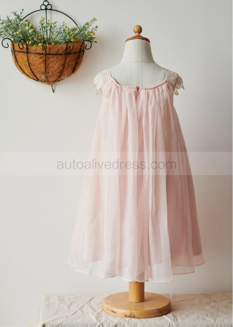 dd8d1d472 Sheath Ivory Chiffon Lace Flower Girl Dress