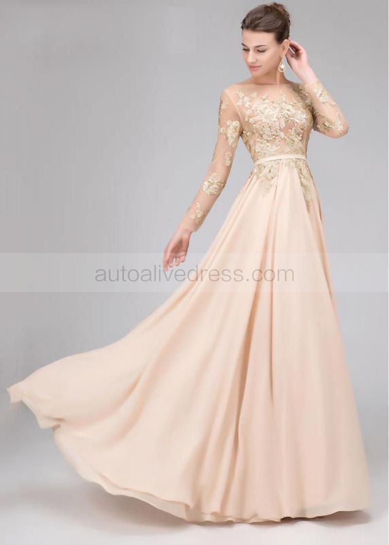 Chiffon Backless Dresses